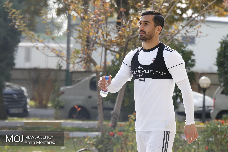 تمرین تیم ملی فوتبال- ۲۷ آبان ۱۳۹۷- احسان حاج صفی