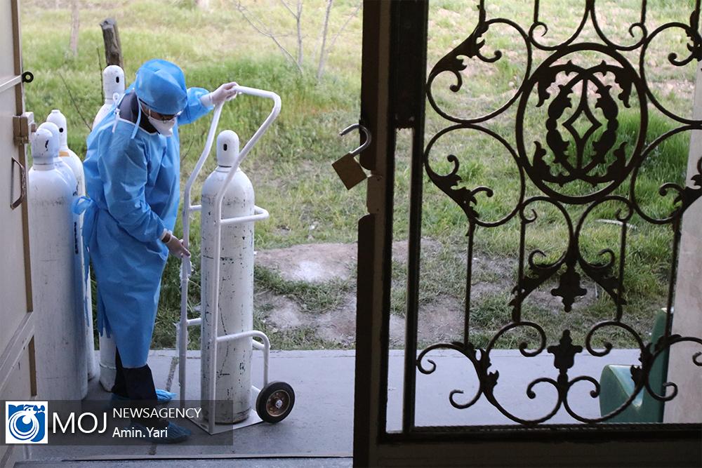 بخش بیماران کرونا بیمارستان بعثت نیروی هوایی ارتش