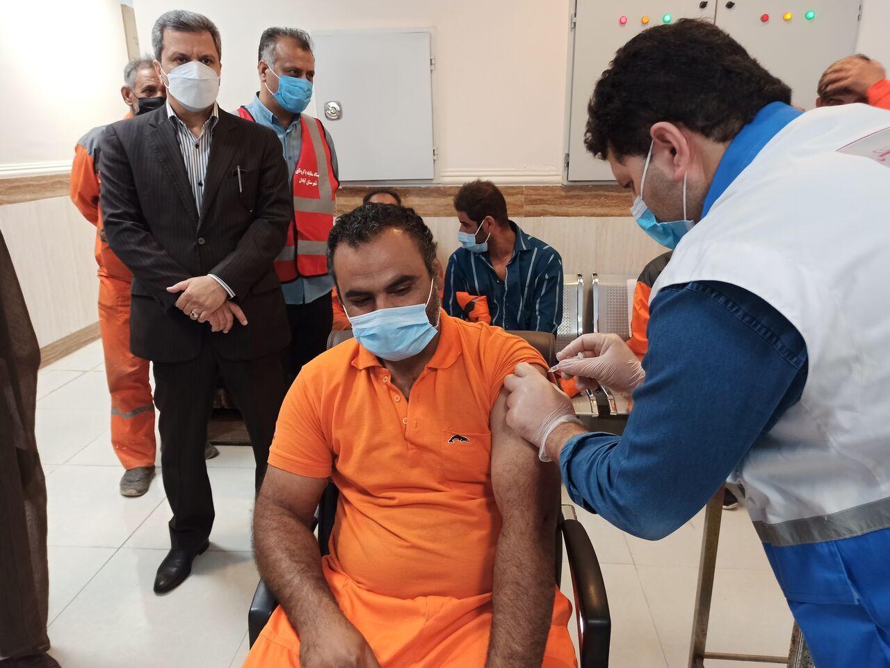 واکسن کرونا + شهردار ابادان