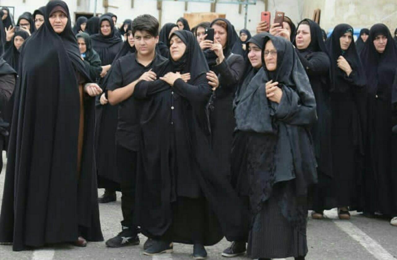 تشییع پیکر جانباز شهید ظاهرگیور در رشت