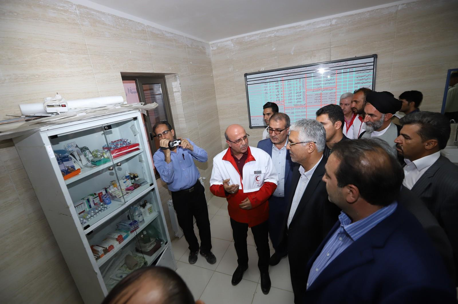 افتتاح پایگاه امداد و نجات بین شهری ستاره دالین شهرستان سپیدان با حضور استاندار فارس