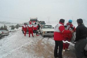 امدادرسانی در برف
