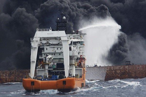 جستجوی پیکرهای مفقودان نفتکش سانچی
