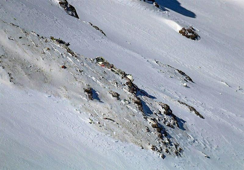 نقطه برخورد هواپیما با کوه