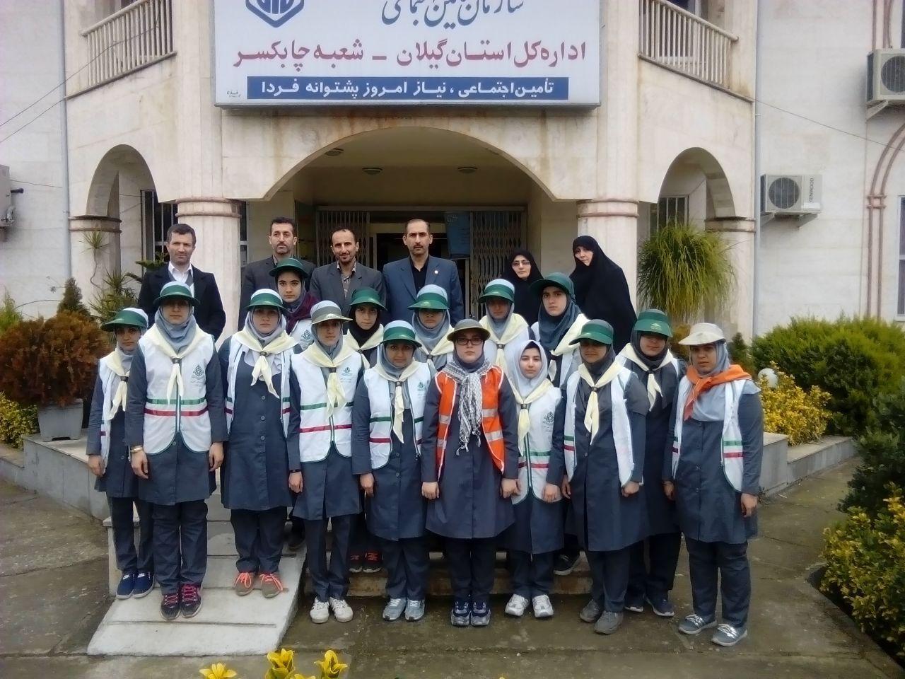 بازدید دانش اموزان گیلانی از شعب بیمه تامین اجتماعی در گیلان