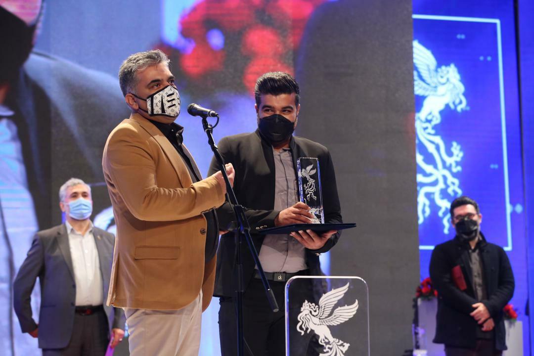 ایمان کرمیان در اختتامیه جشنواره فیلم فجر