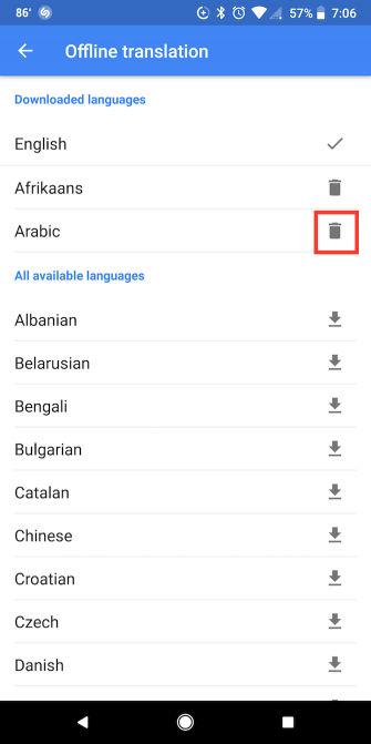 حذف نسخههای آفلاین گوگل ترنسلیت1