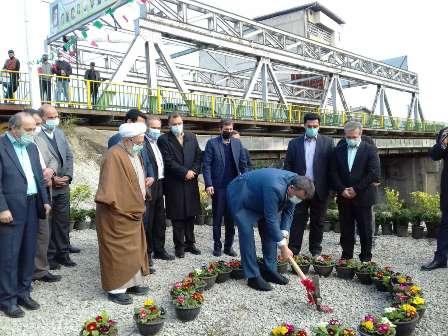 کلنگ احداث پل «ماشلک» نوشهر