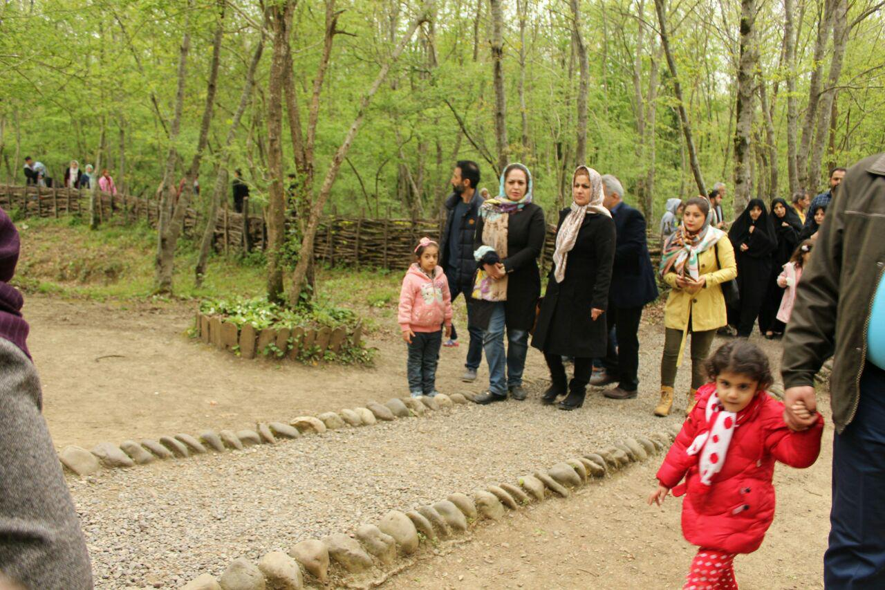 استقبال مسافران نوروزی از موزه میراث روستایی گیلان