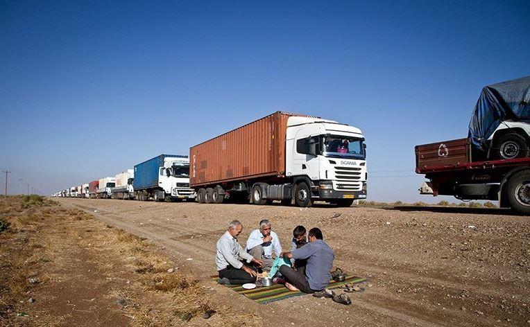 مشکل تردد کامیونهای ایرانی