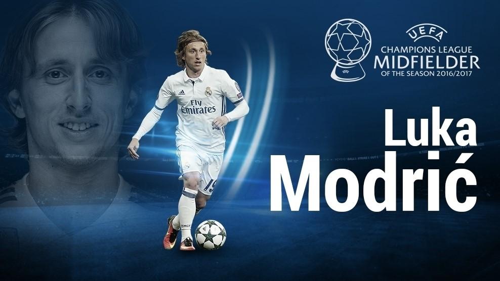 مودریچ بهترین هافبک فصل لیگ قهرمانان اروپا