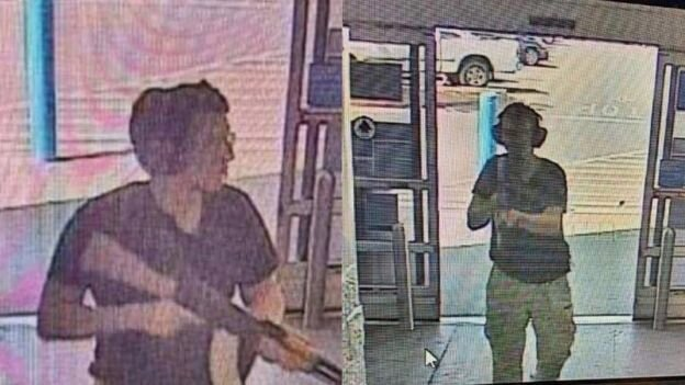 نخستین تصویر مخابره شده از مهاجم در جریان حمله به فروشگاه والمارت الپاسو