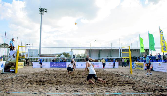 تورجهانی والیبال ساحلی منطقه آزاد انزلی