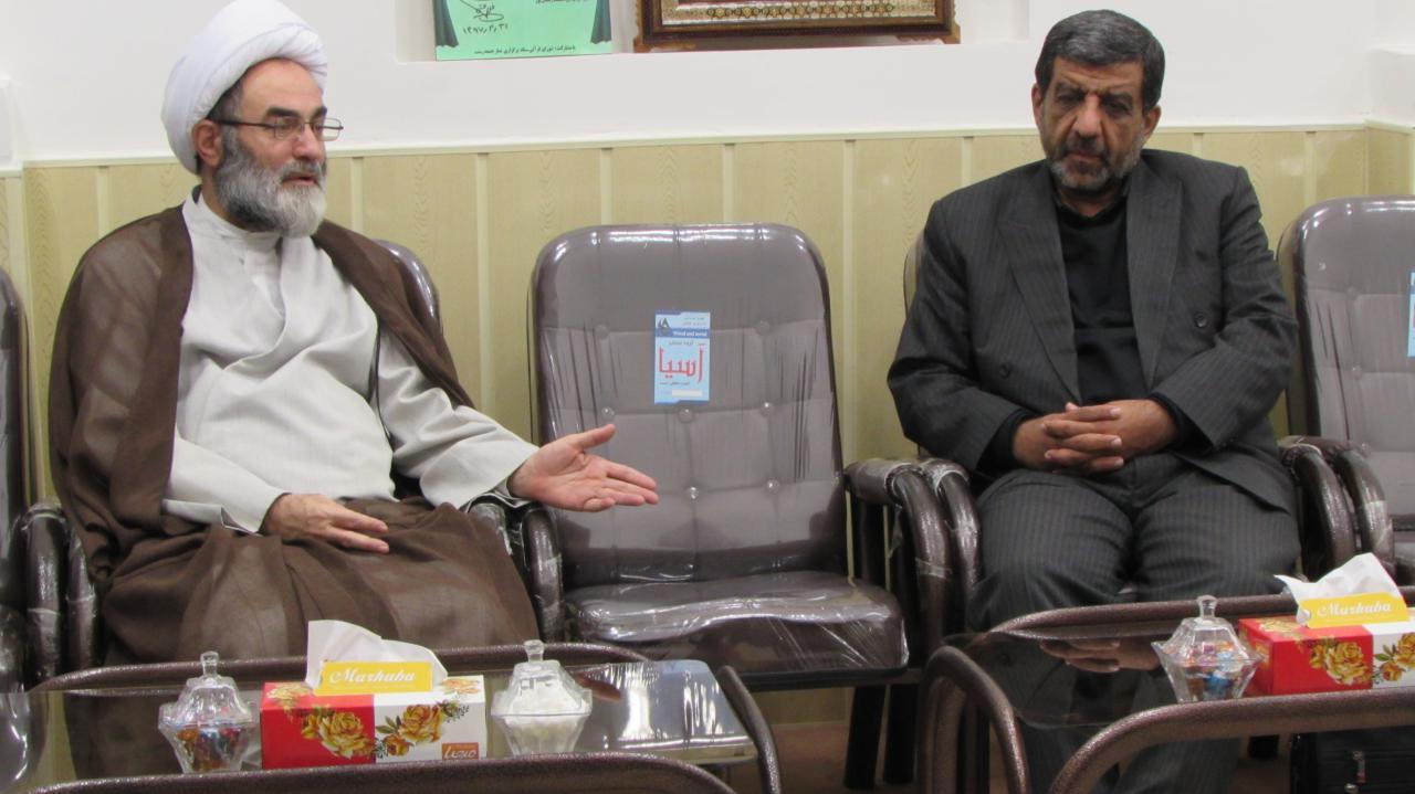 دیدار دکتر عزت الله ضرغامی با نماینده ولی فقیه درگیلان