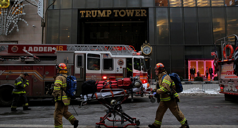 آتش سوزی در برج ترامپ