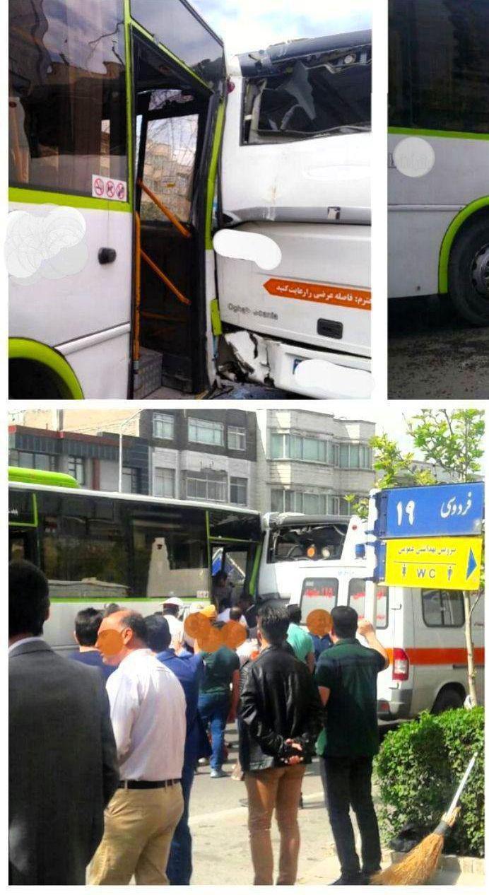 تصادف اتوبوس در مشهد