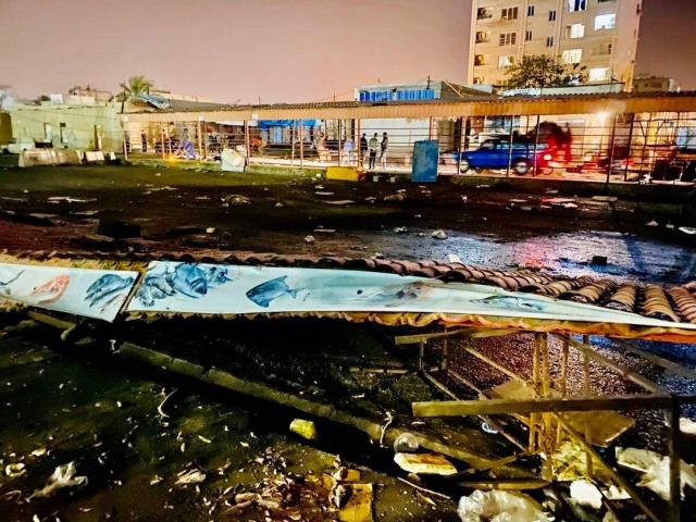 تخریب بازار ماهی