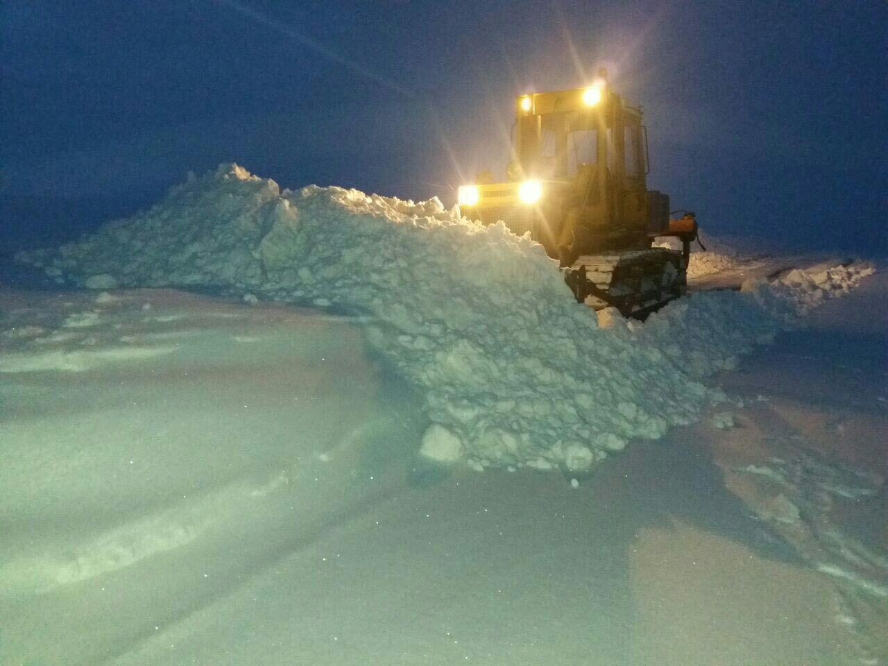 برف روبی درکردستان