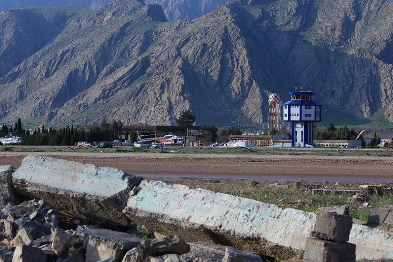 تخریب دیواره فرودگاه خرم آباد