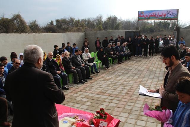 افتتاح مدرسه خیرساز در روستای بی سیم گاز تالش1