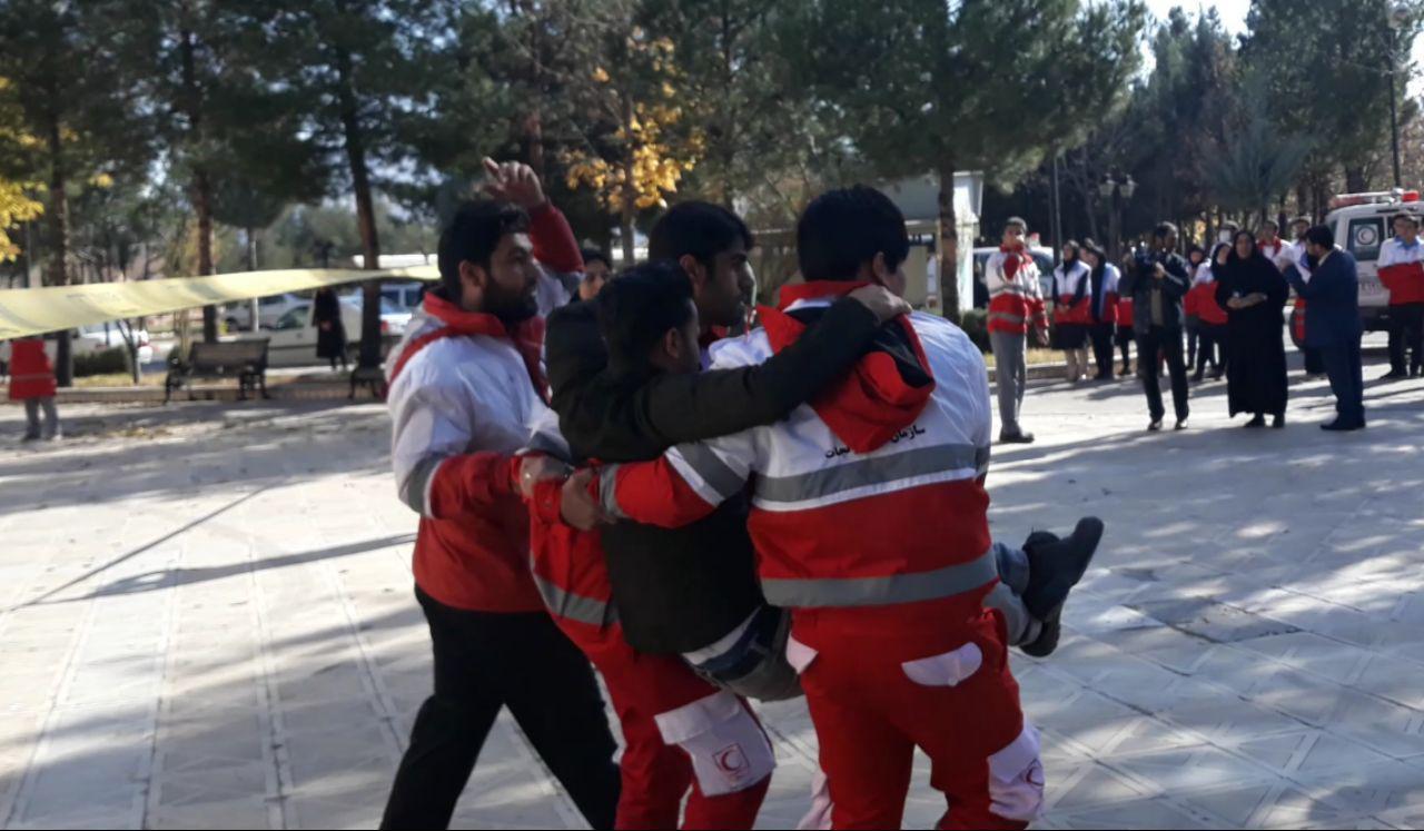 مانور جمعیت هلال احمر خرم آباد