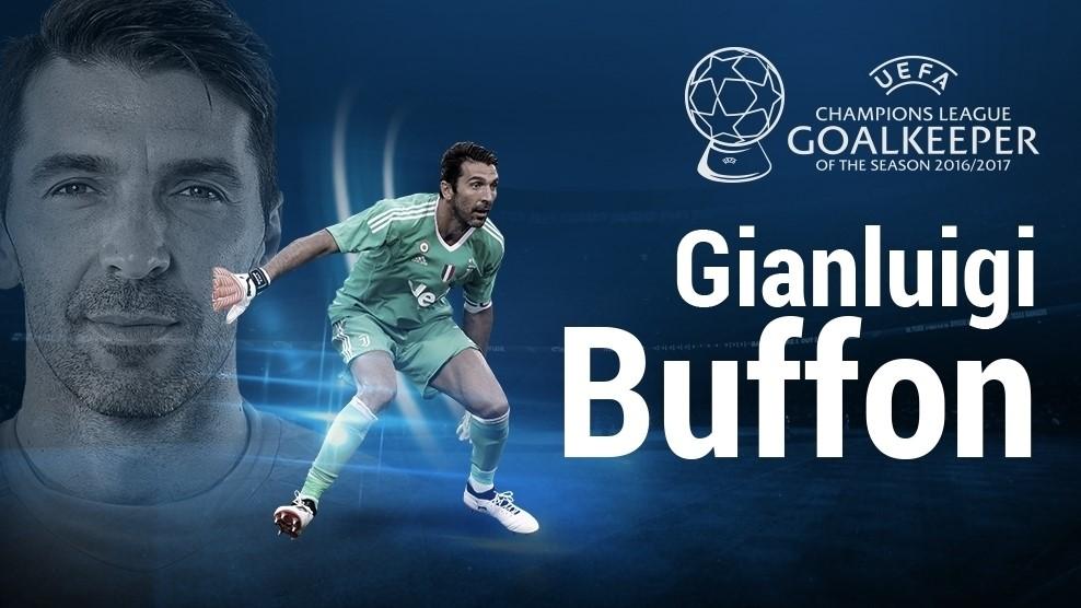 بوفون بهترین دروازبان فصل لیگ قهرمانان اروپا