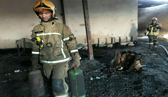 آتش سوزی کارگاه مبل1