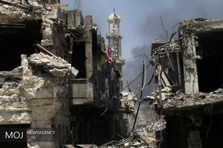 خرابه های موصل و رزمندگان عراق