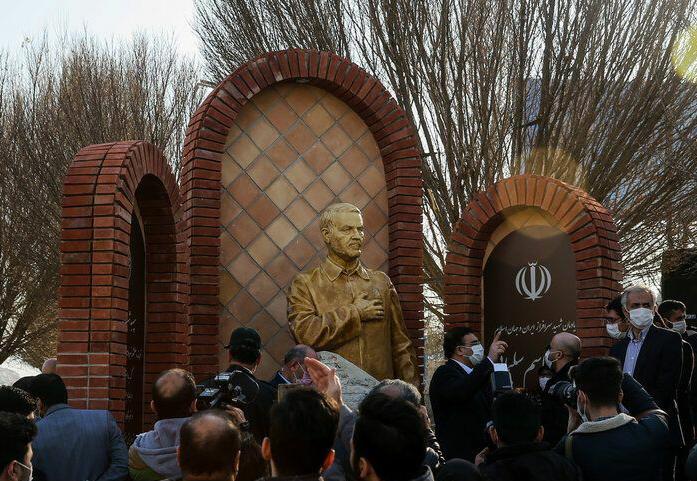 تندیس سردار سلیمانی در مشهد