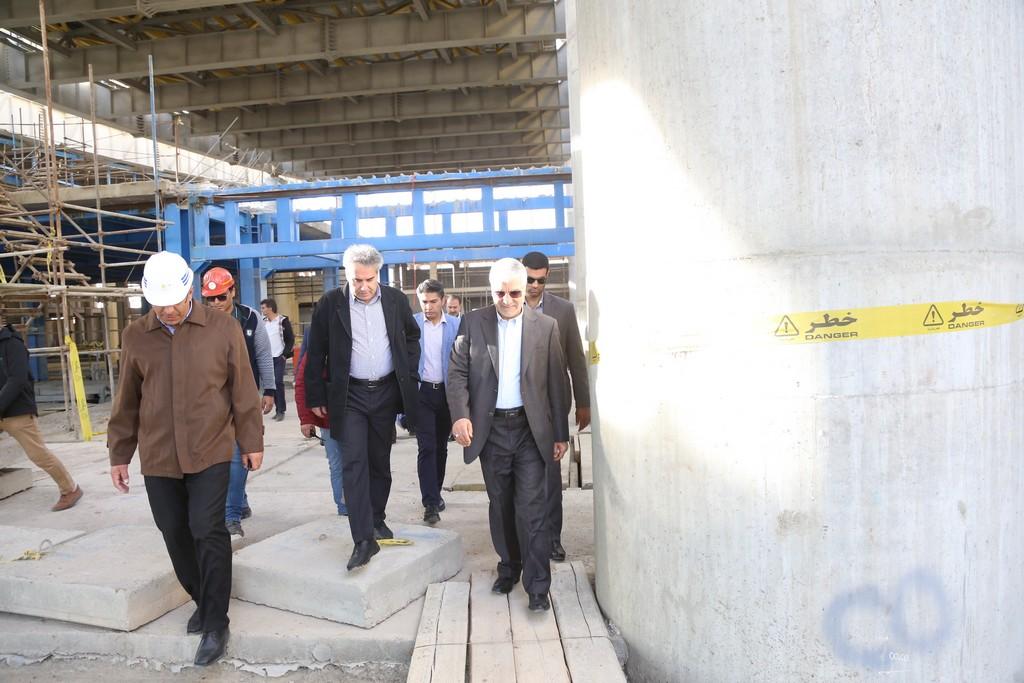 استاندار فارس در بازدید از پروژه ترمینال بین المللی فرودگاه شیراز