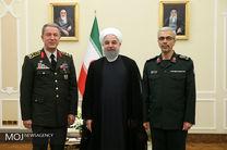 دیدار رییس ستاد ارتش ترکیه با رییس جمهور