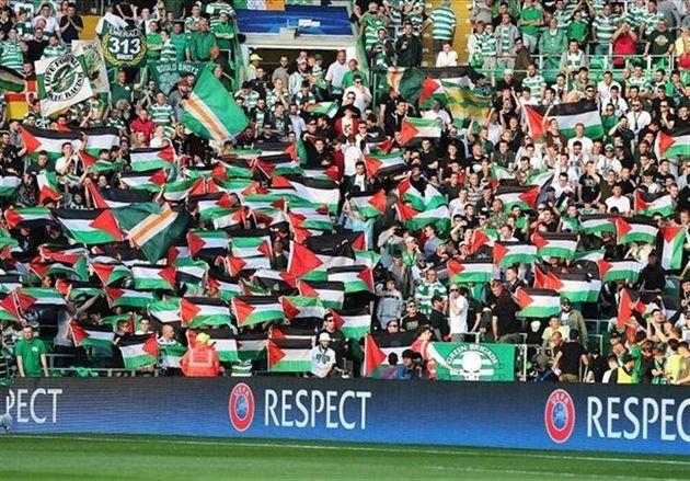دهنکجی هواداران سلتیک به یوفا با کمک به مردم فلسطین