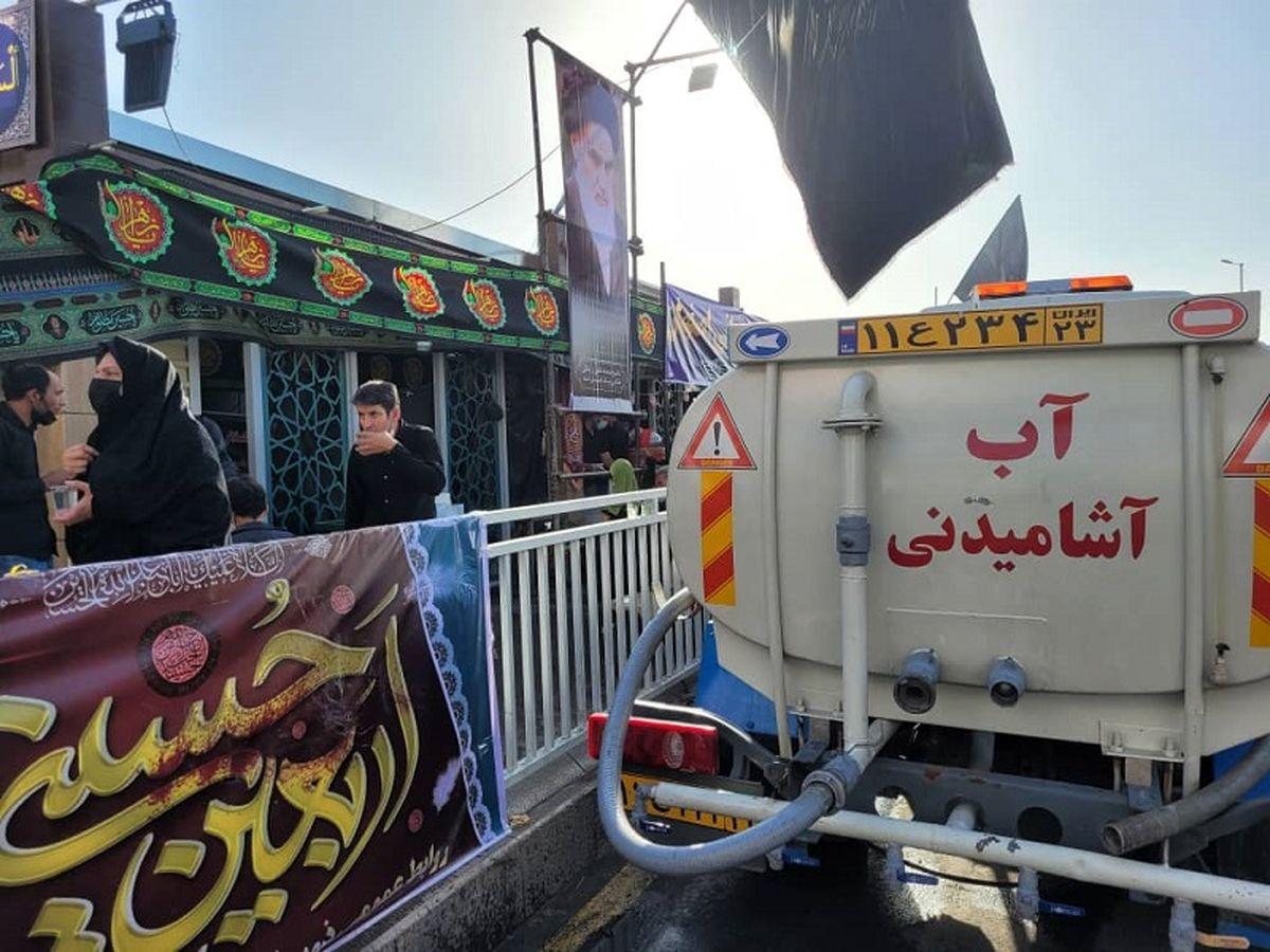 اعزام 13 تانکر آبرسانی سیار به موکب های عزاداری اربعین حسینی در اصفهان