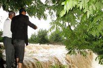 سیلاب در رودخانه بزرگ تفت جاری شد