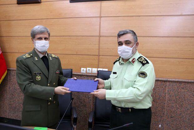 امضای تفاهم نامه همکاری میان وزارت دفاع و نیروی انتظامی