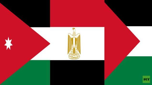 دیدار سه جانبه وزرای خارجه مصر، اردن و فلسطین در قاهره