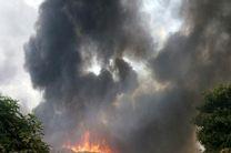 آتش سوزی در جنگل های انباشته از زباله چالوس