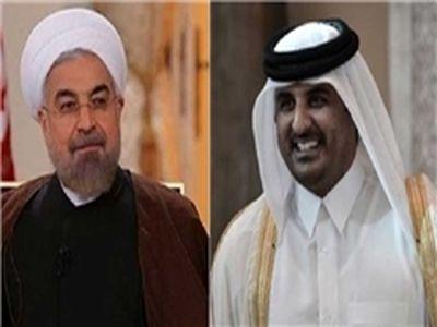 تأکید روحانی و امیر قطر بر تحکیم روابط دوجانبه
