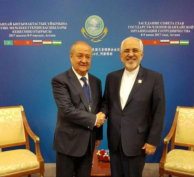 دیدار ظریف با وزیر امور خارجه ازبکستان