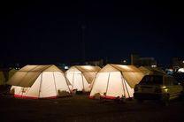 بازدید شبانه رهبر انقلاب از چادرهای محل اسکان زلزله زدگان کرمانشاه