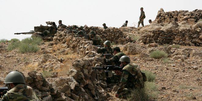 عملیات موفقیت آمیز ارتش سوریه علیه تروریست های داعش