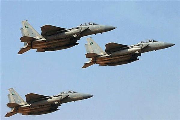 حمله جنگنده های سعودی به یمن