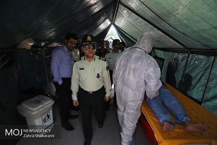 رزمایش پدافند حملات شیمیایی در بندرعباس