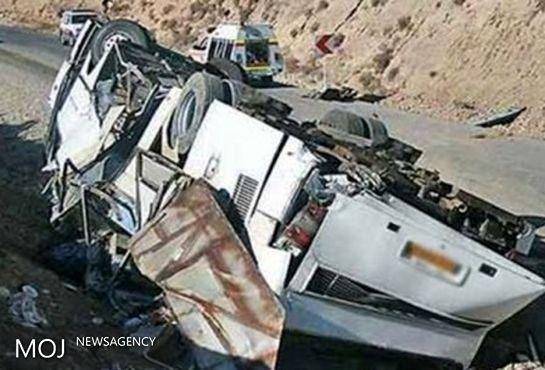 مستندات ناایمنی محل واژگونی اتوبوس حامل سربازان در نی ریز فارس منتشر شد