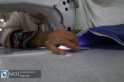 تغیر کاربری کارگاه تولیدی لباس های نظامی به ماسک و گان
