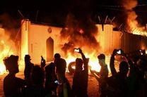 تعرض اغتشاشگران به کنسولگری ایران در نجف