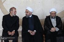 آغاز مراسم وداع با شهدای ترور در مجلس شورای اسلامی / حضور روسای سه قوه و مقامات لشکری و کشوری