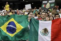 ساعت بازی برزیل و مکزیک در مرحله یک هشتم نهایی جام جهانی