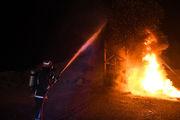 وقوع آتش سوزی گسترده در فروشگاه کوثر یک اصفهان