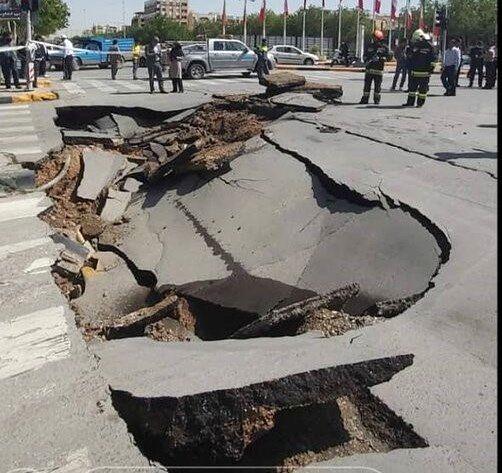 ادامه برداشتهای غیرمجاز آب و فرونشست زمین در محور قدیم قم-تهران